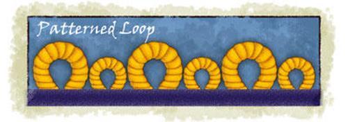 patterned loop